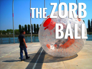 Human hamster ball or zorb ball with harness