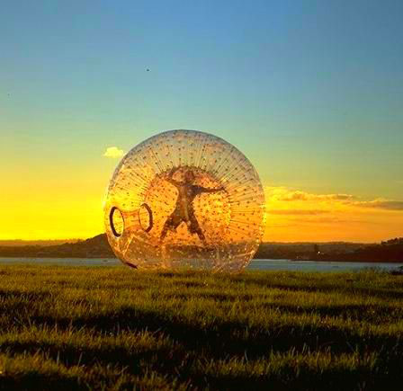 Zorb Ball or Human hamster Ball with no harness