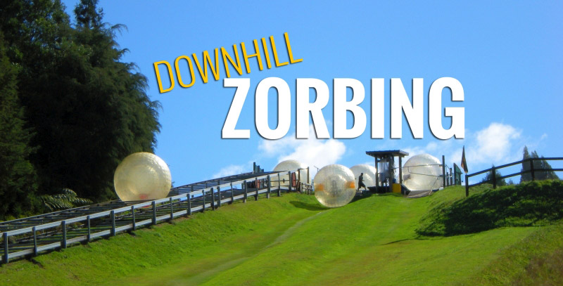 Zorbing down a hill