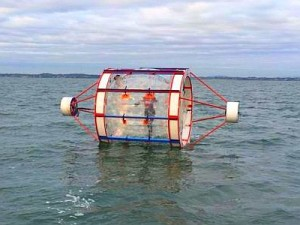 Zorbs at sea