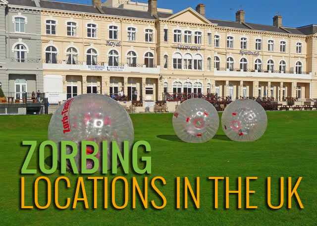 Zorbinng Locations in the UK