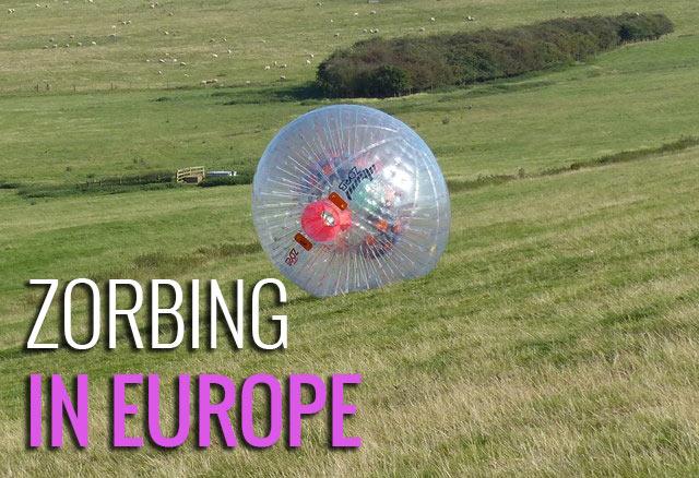Top zorbing locations in Europe