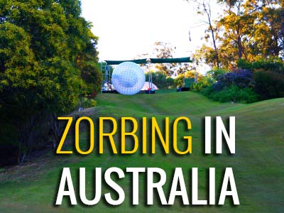 Zorbing On The Gold Coast In Australia